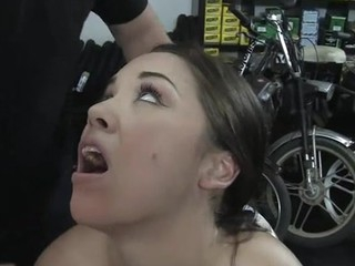 X-rated enticing gal eaten up and fucked up the tushy apart from cruel landlord.