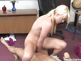 A fortunate older guy gets entry around sweet schoolgirl